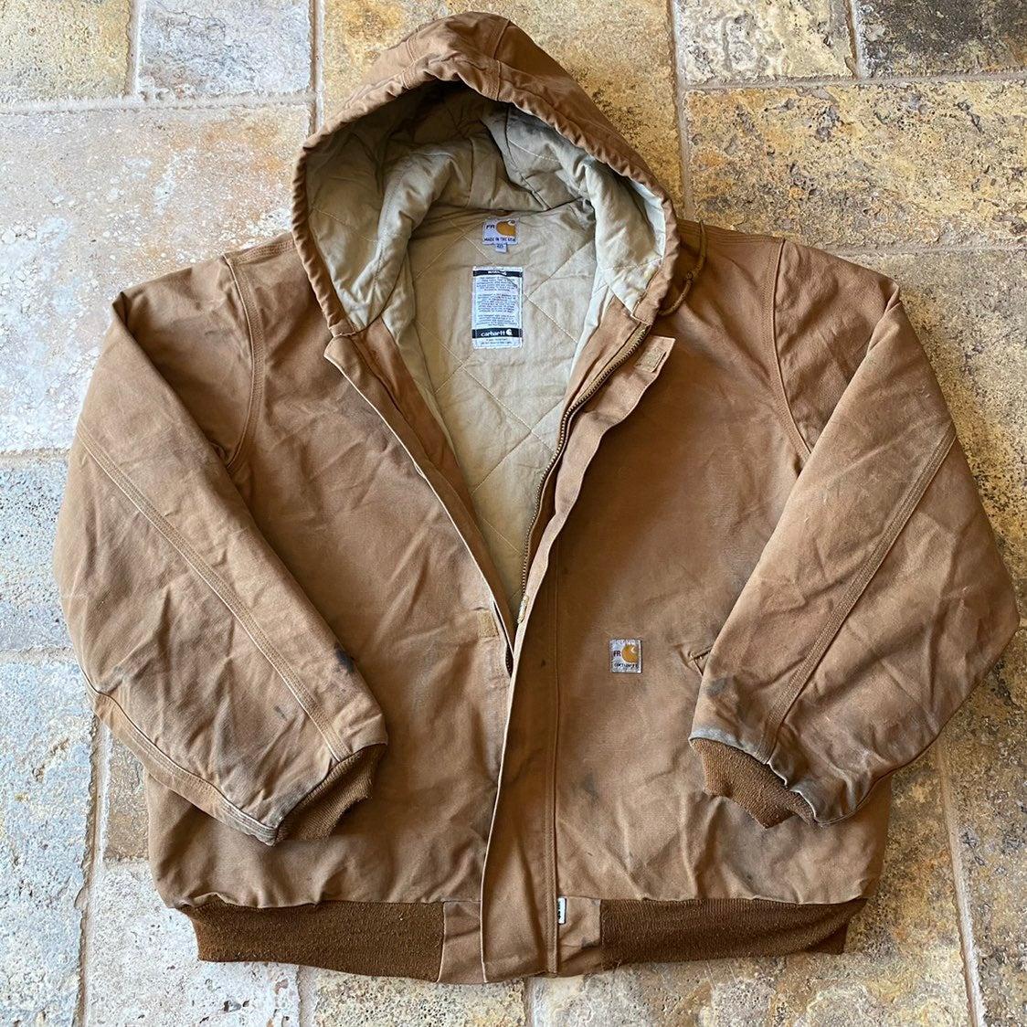 90s Carhartt FR HRC 4 Canvas Work Jacket