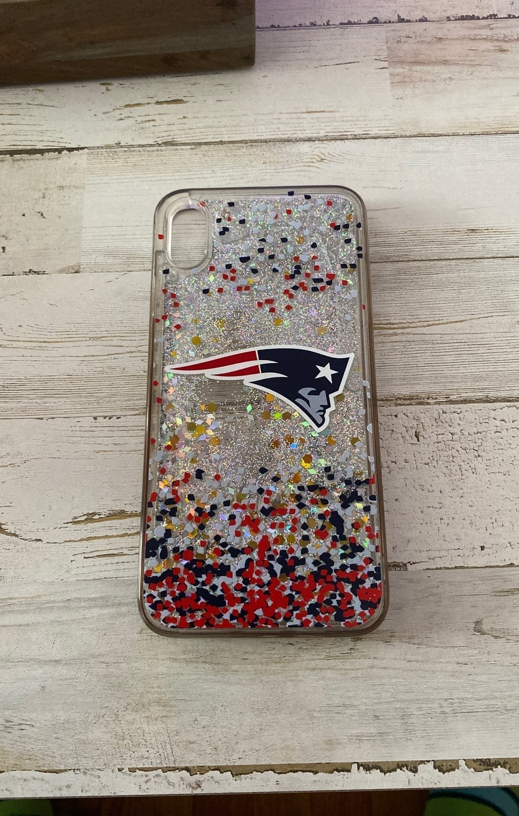 iPhone xs max New England Patriots glitt