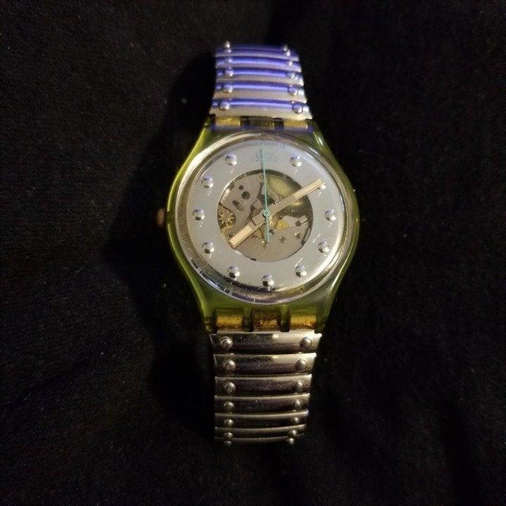 "Swatch Watch ""skeleton"" Face Wristwatch"
