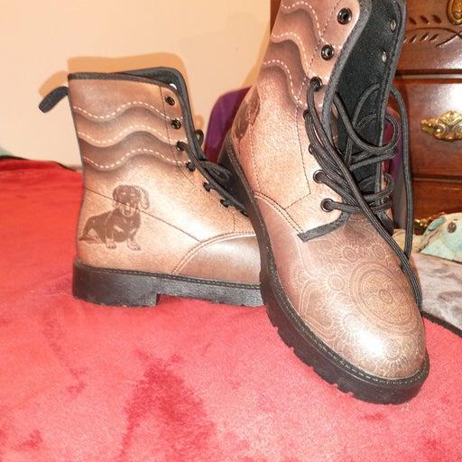 Women's Custom Dachshund design boots