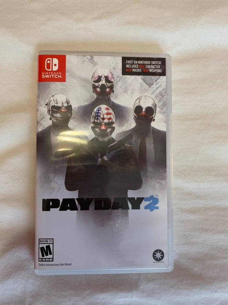 Nintendo switch payday 2 game