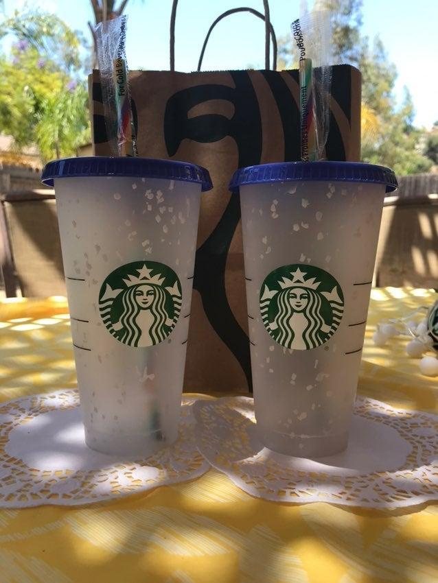 Starbucks confetti cup color chg