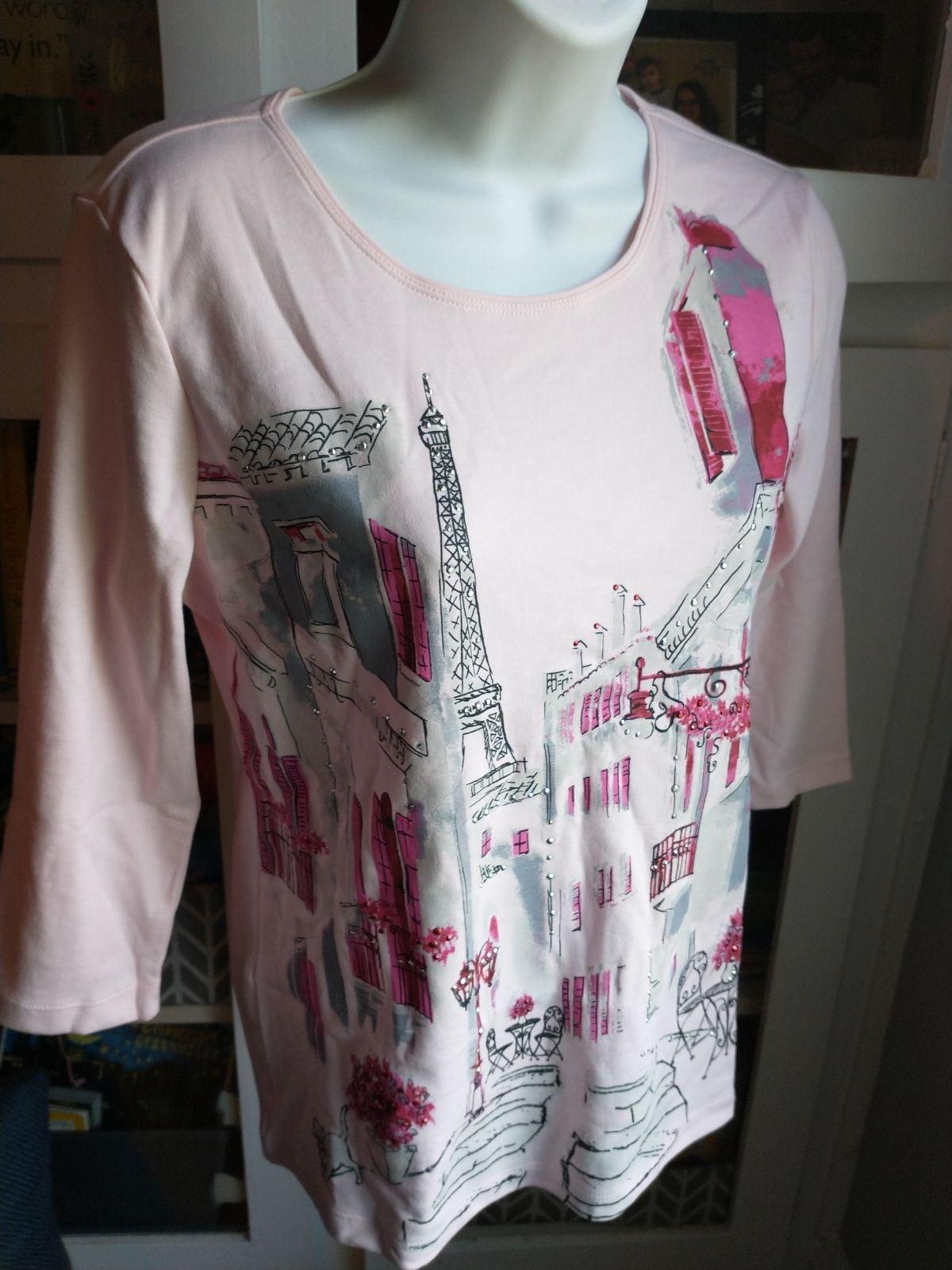 NEW Karen Scott 3/4 length sleeve Paris