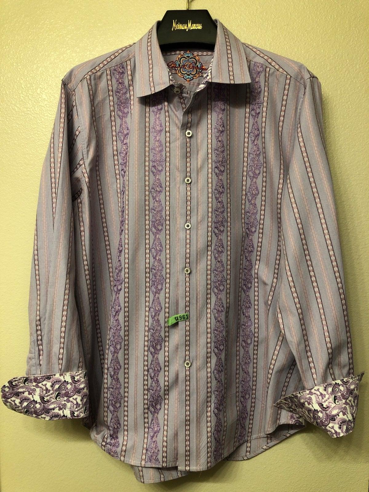 robert graham xl shirts embroidered