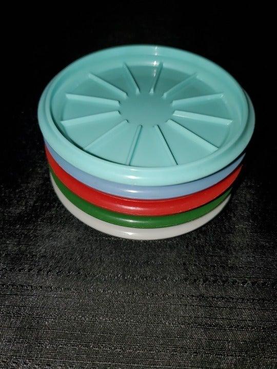 Tupperware Vintage Coasters Set of 5