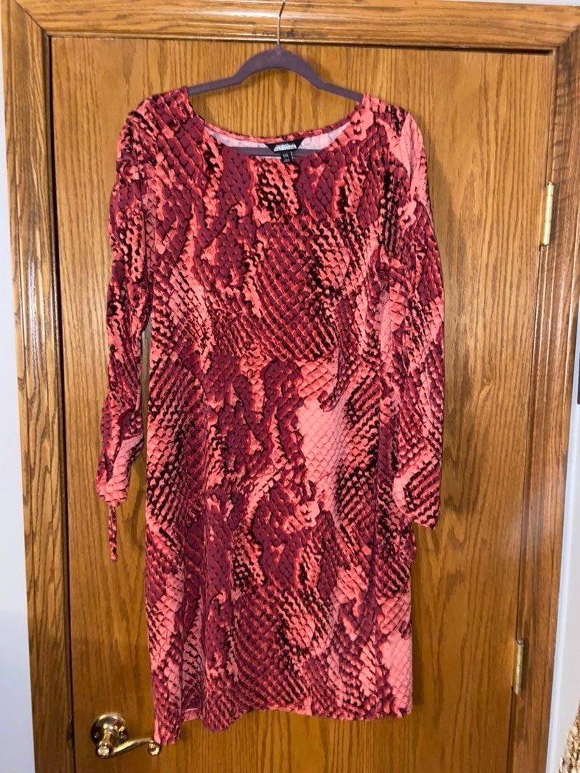 Snakeskin print dress