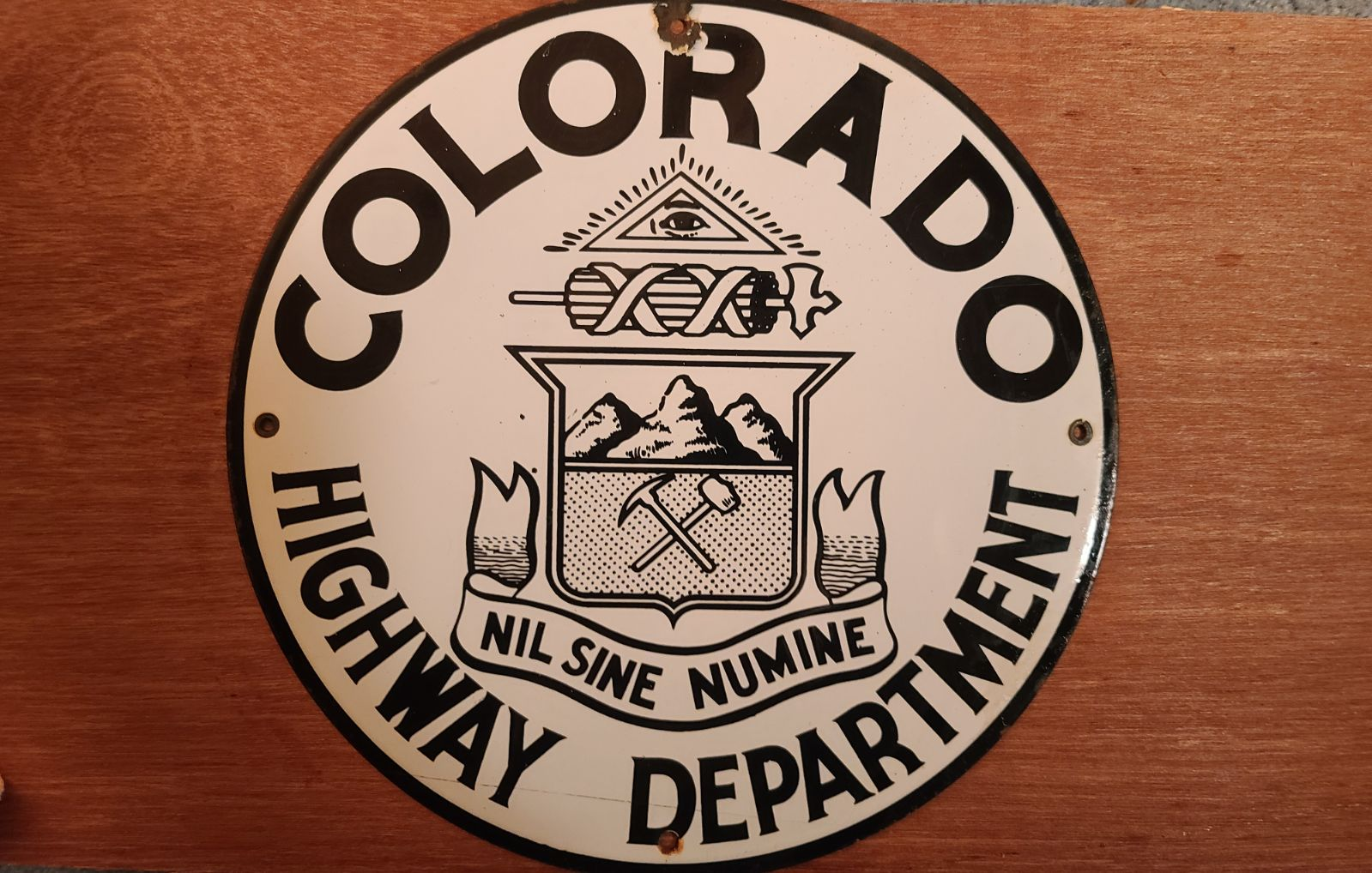 *RARE*Vintage Porcelain Colorado Sign