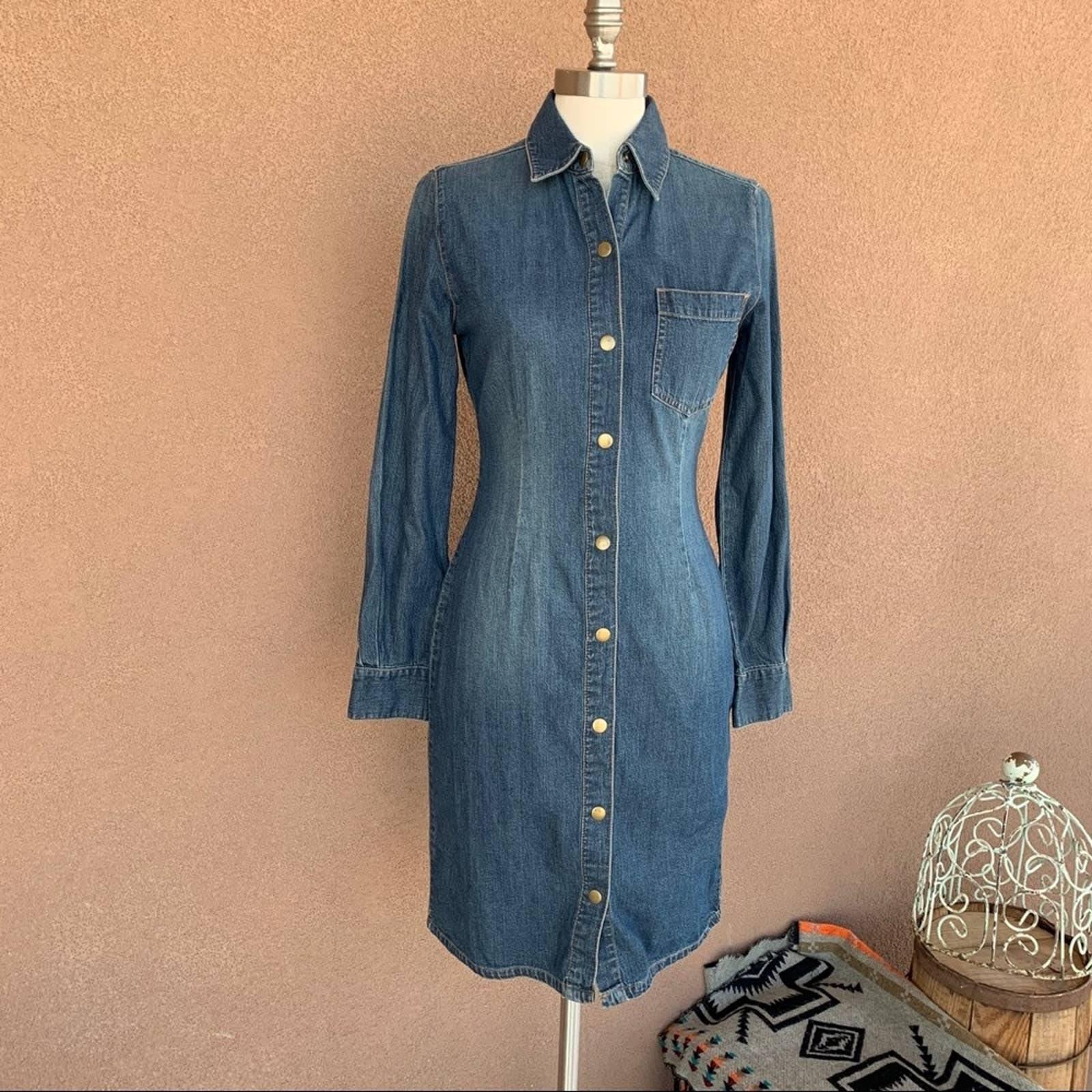 MODA International Denim Shirt Dress