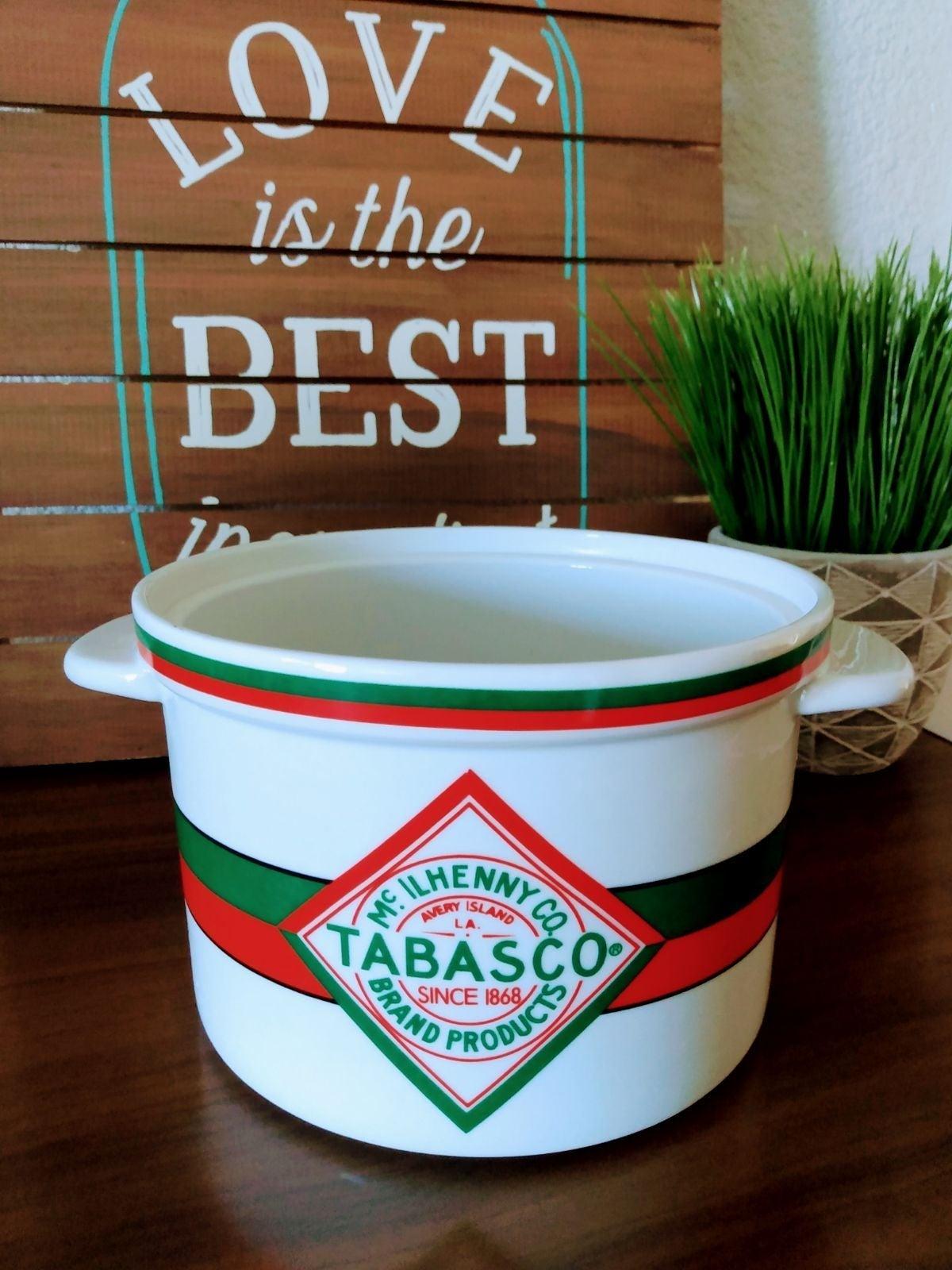 Vintage TABASCO Tureen Crock Soup Pot