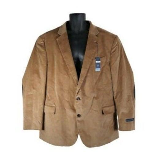 Stafford Sz 52R Classic Fit Sport Coat Blazer Jacket Corduroy Wheat Stretch Men