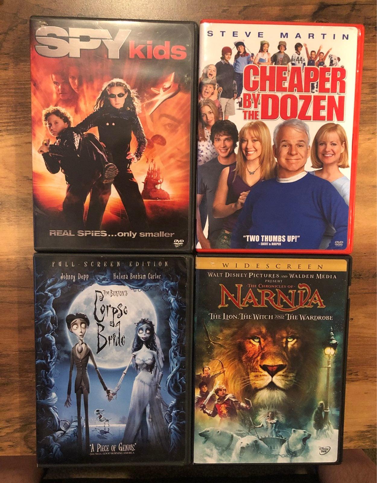 4 DVD set of Kids Movies
