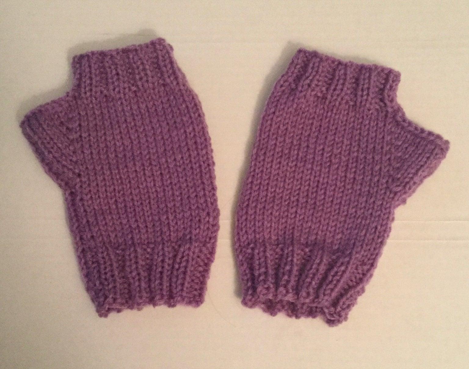 Small/ medium fingerless hand mitts, adu