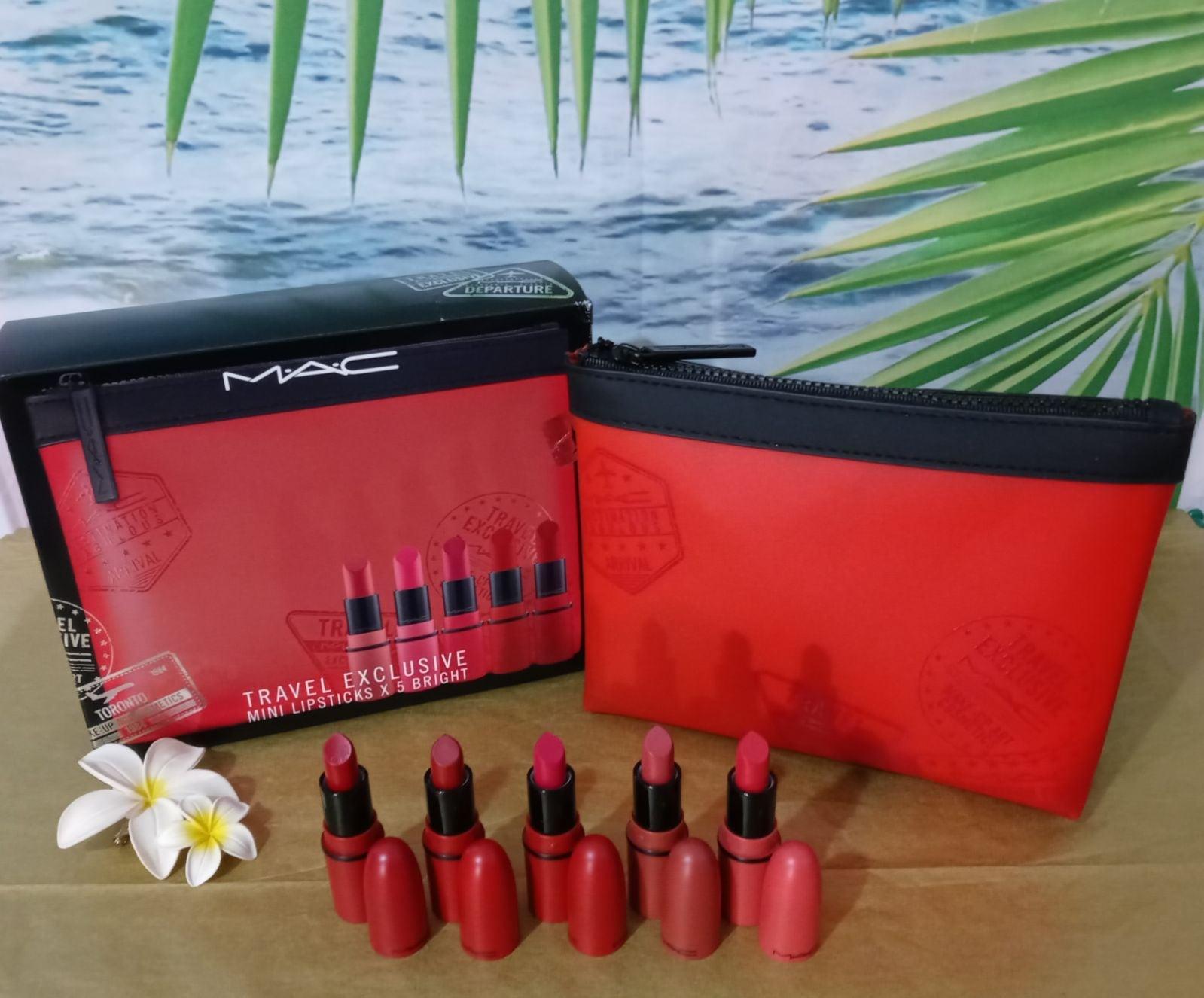 MAC Travel Exclusive Mini Lipsticks X 5