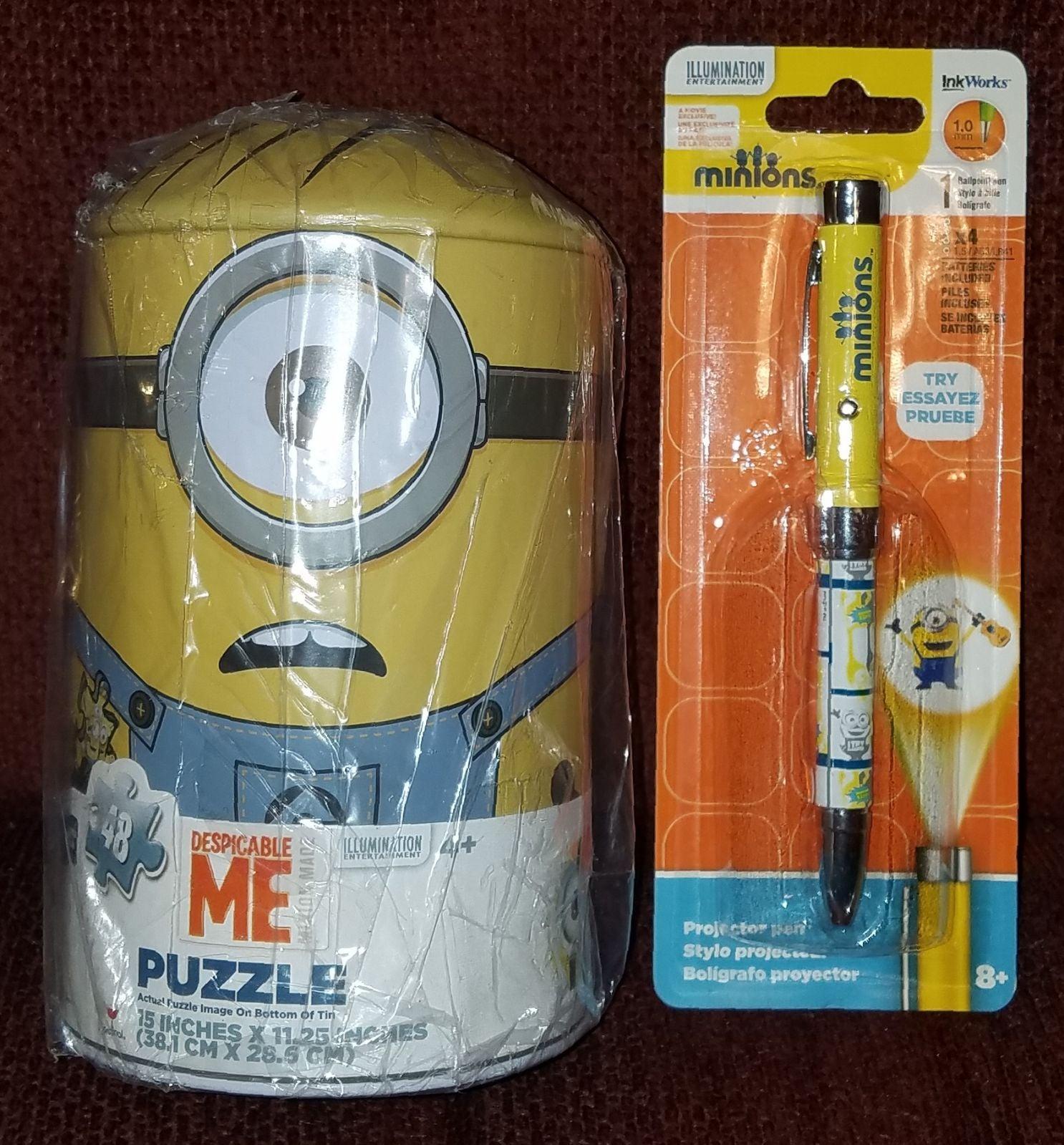 Despicable Me Puzzle Tin & Projector Pen