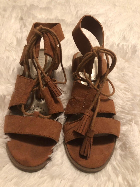 Brown Wrap Around Sandals