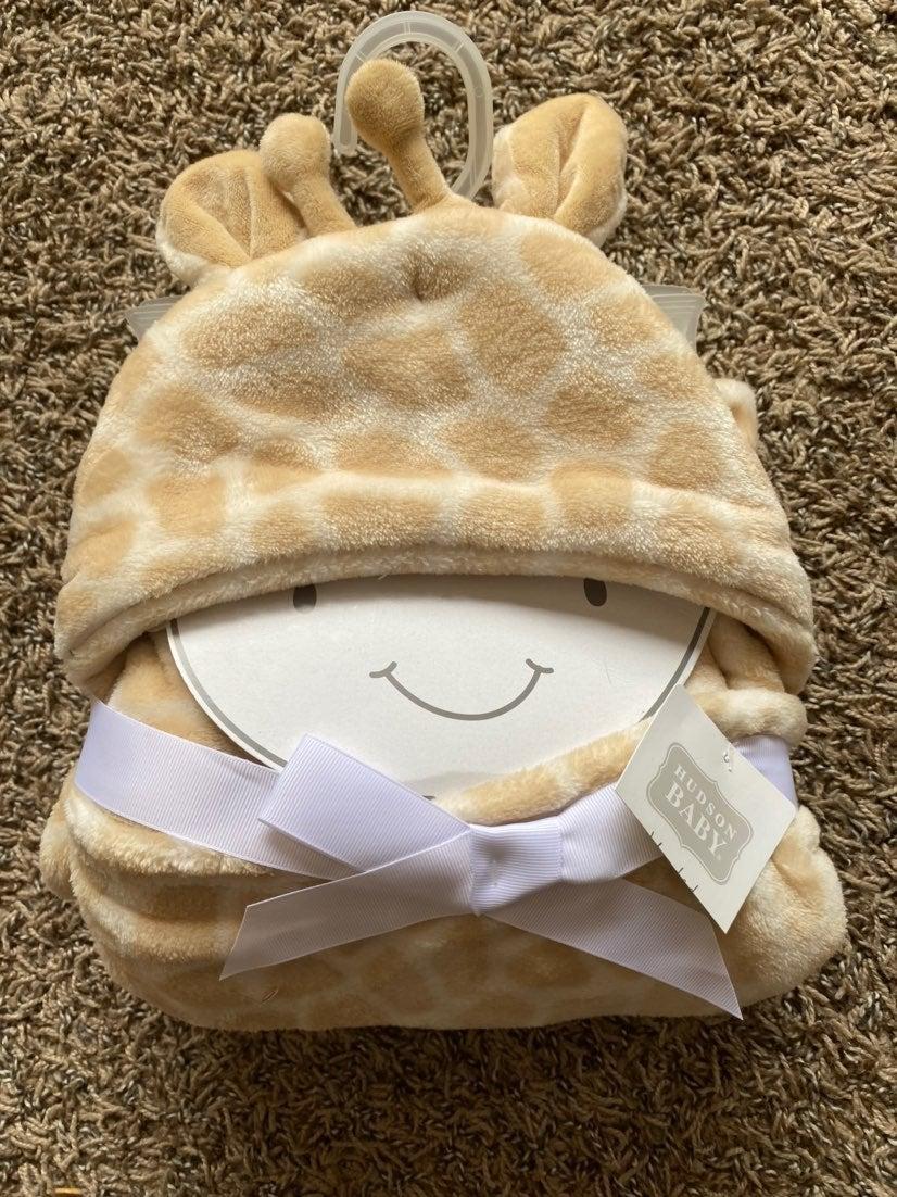 Hoodie giraffe soft blanket