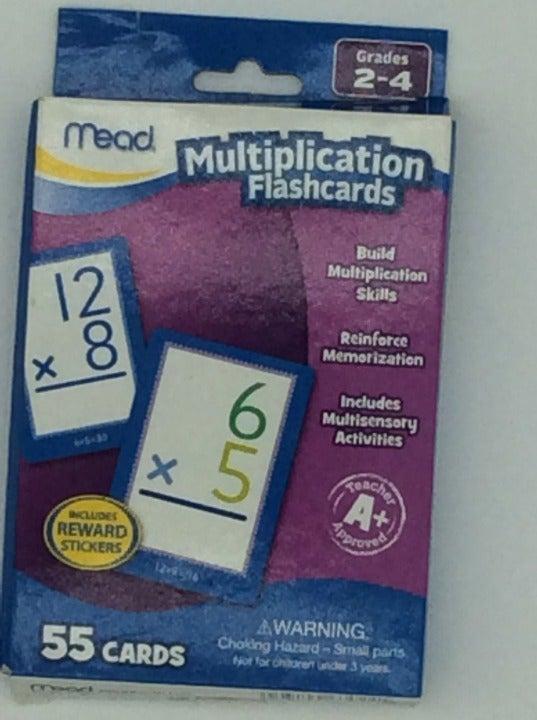 Mead Multiplication Flashcards Math
