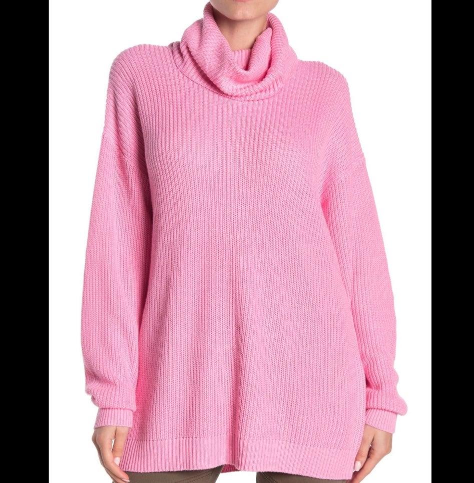 Tularosa women's pink turtleneck sweater