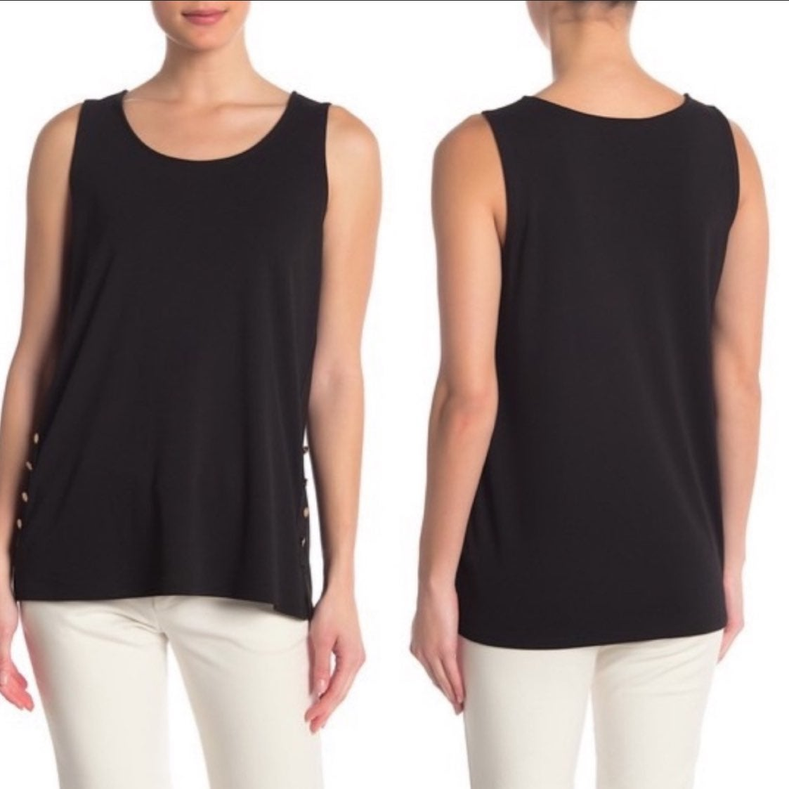 DKNY Side Button Sleeveless Top