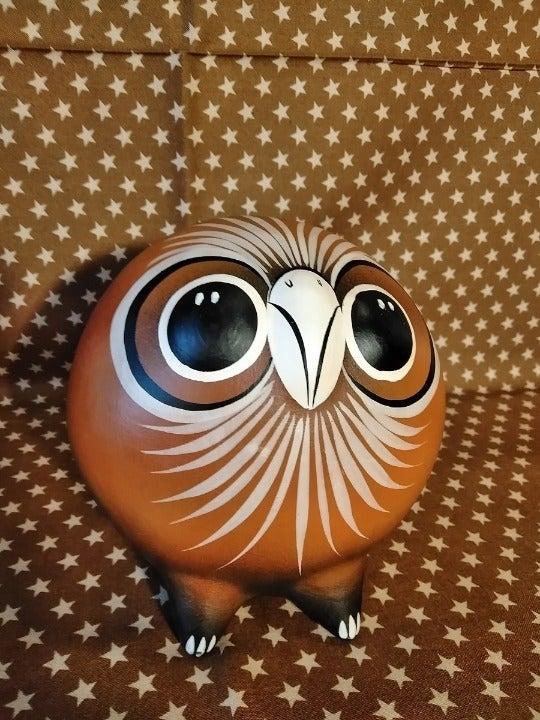 Mexican Tonala Owl pottery, bird on back