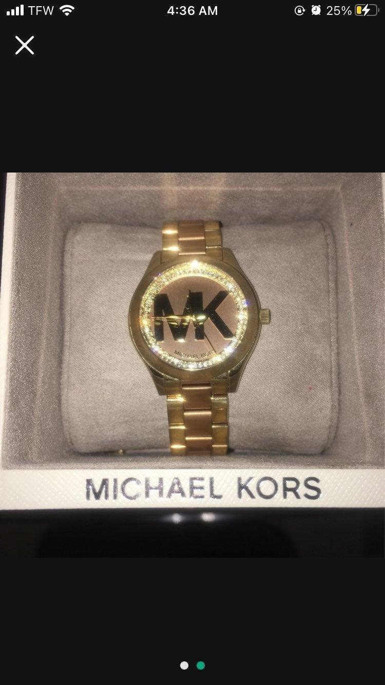 Gold Michael Kors Watch.