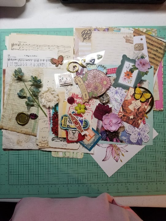 Junk Journal Ephemera Scrap Supplies 100