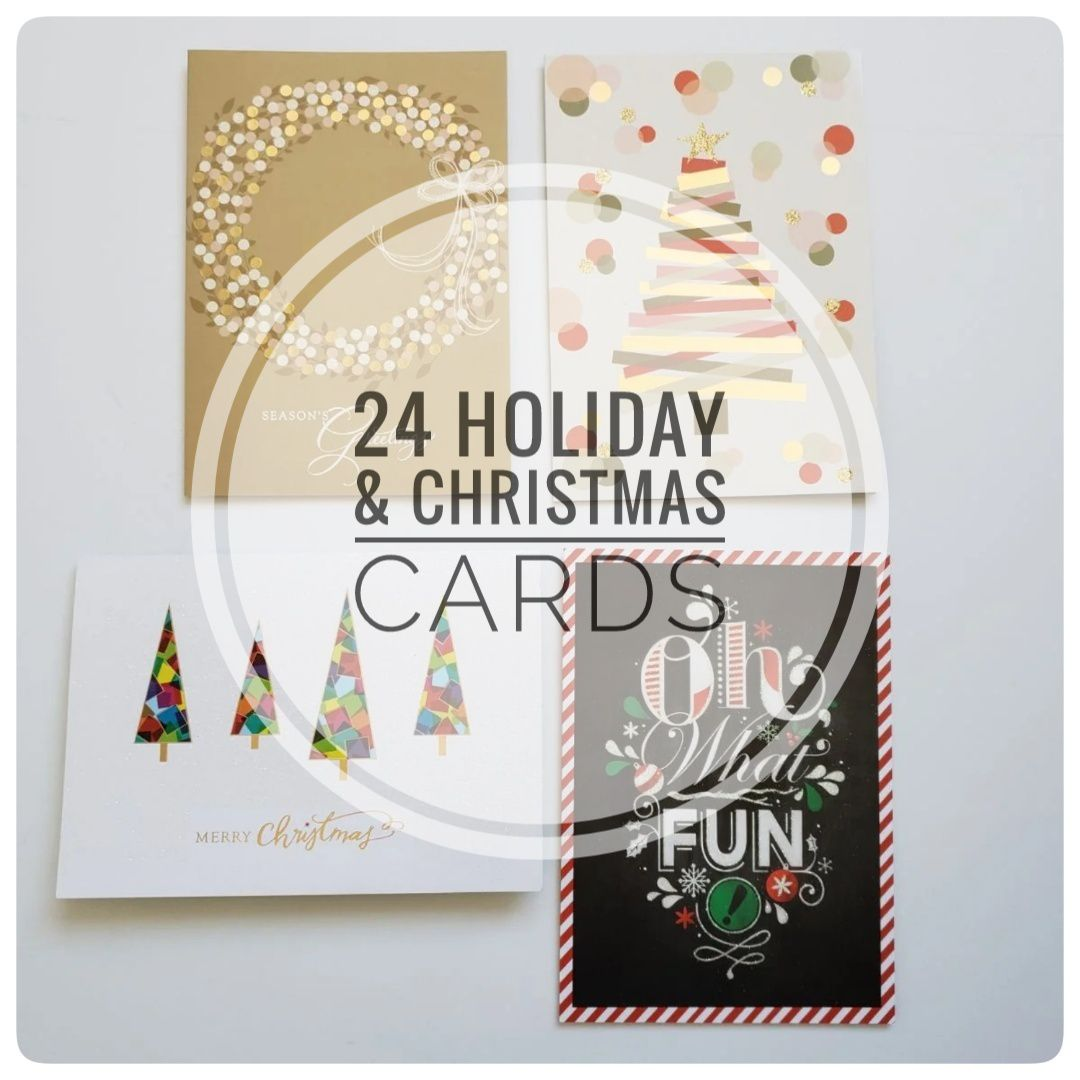 24 Holiday Christmas Cards Variety Pack