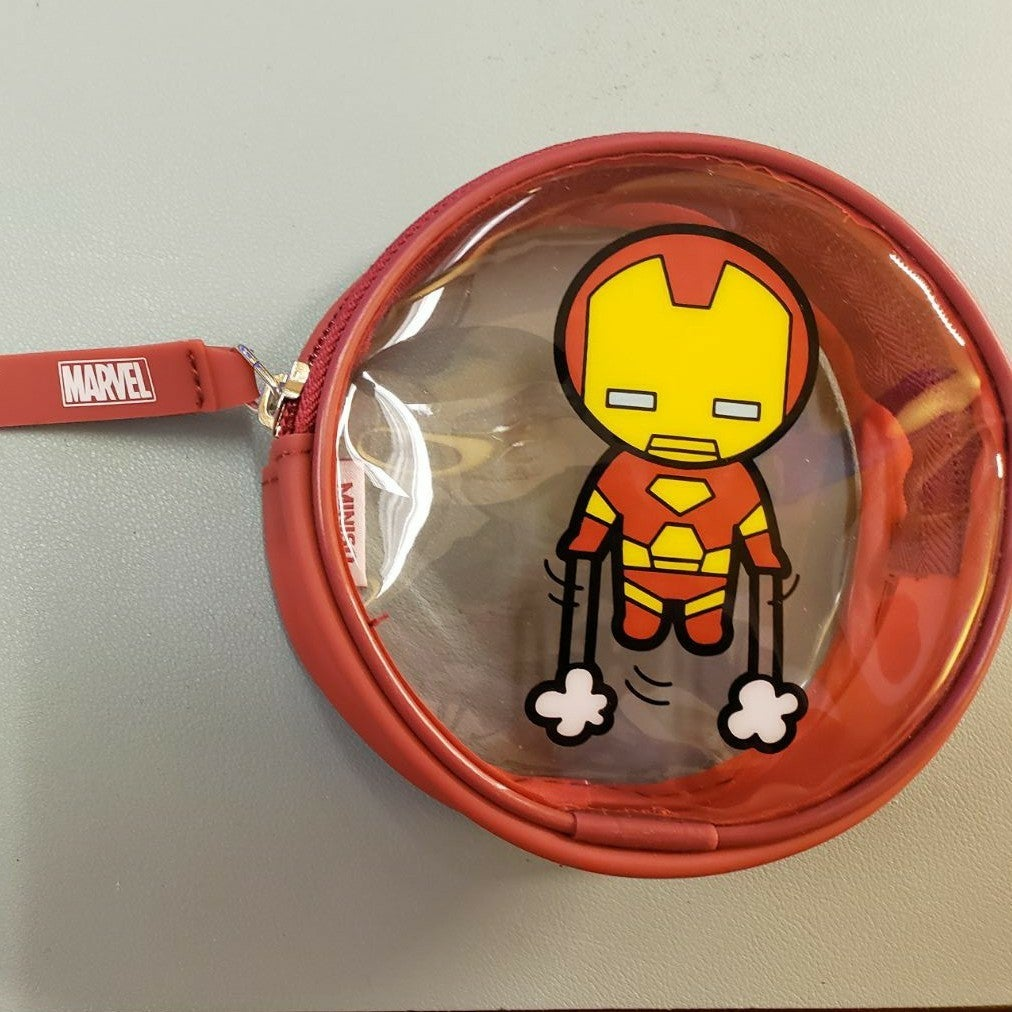 Iron Man Clear Round Pouch