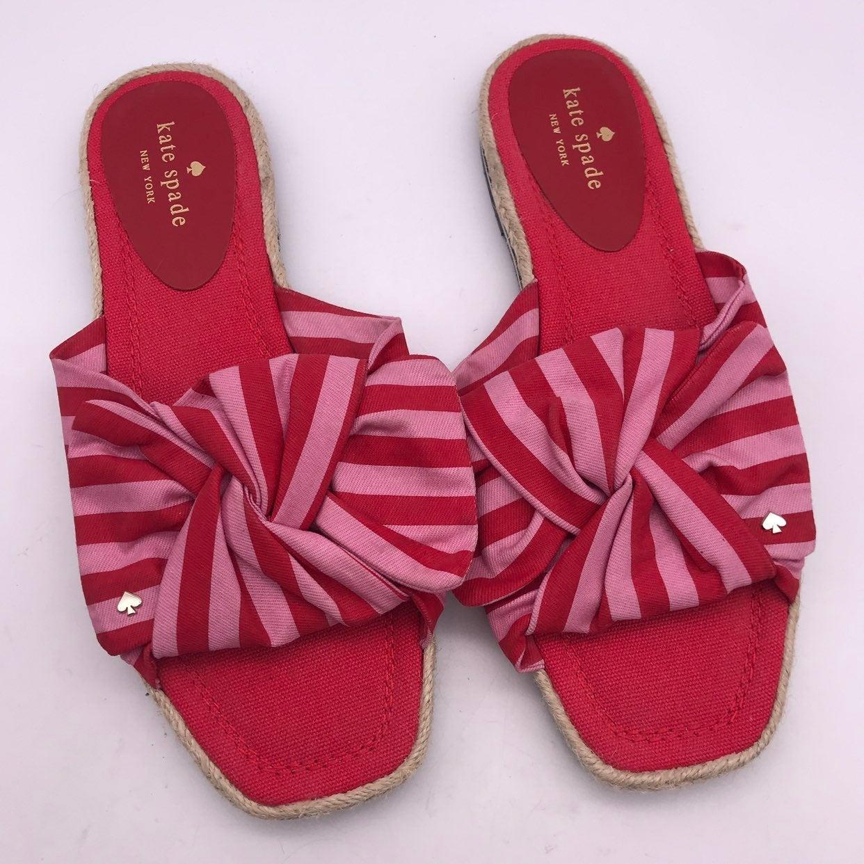 Kate Spade 9.5 Striped Slide Sandals
