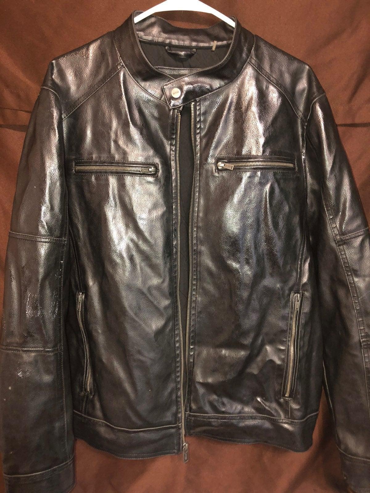 Guess Leather Vintage Jacket Unisex