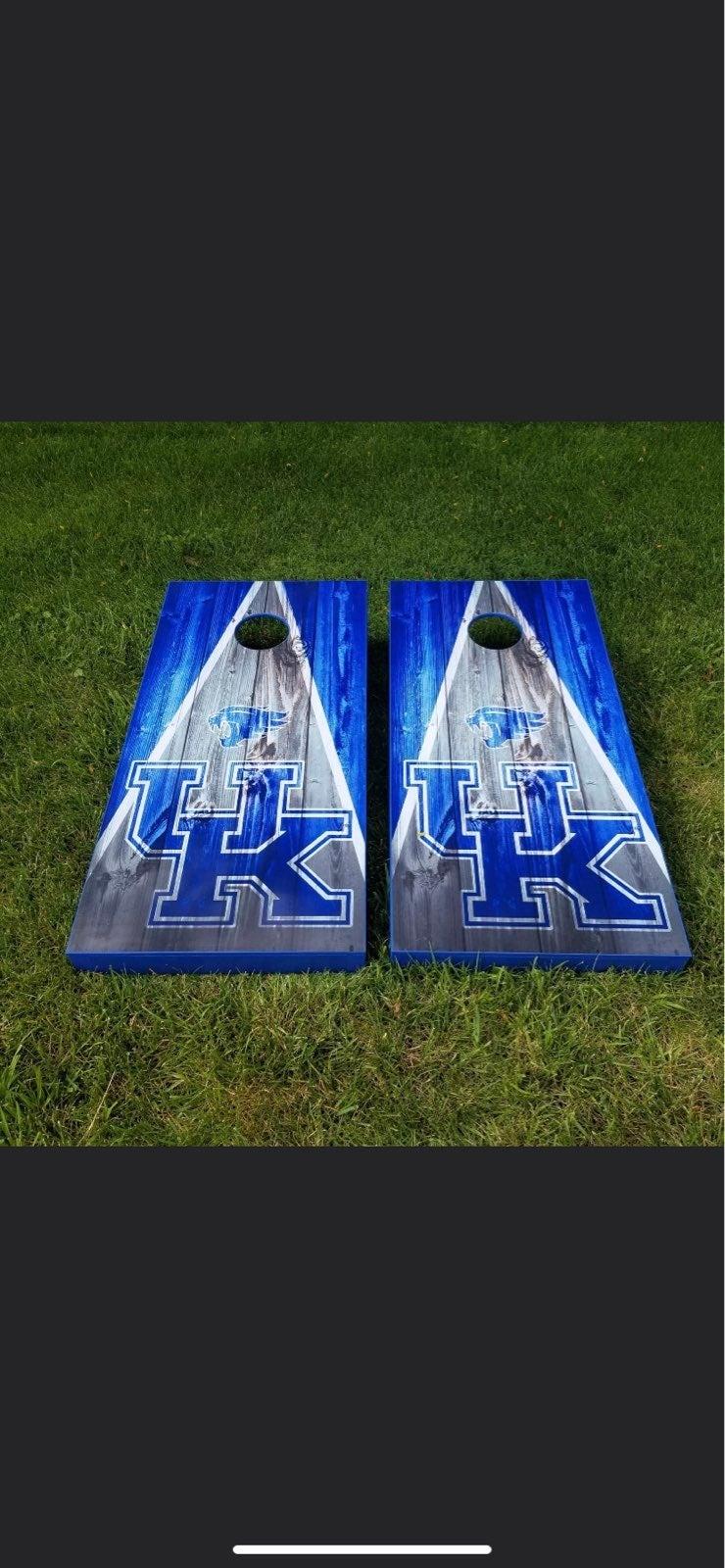 Hand made cornhole boards