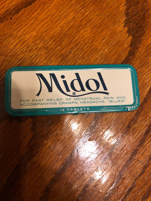 Vintage Midol Pill Holder