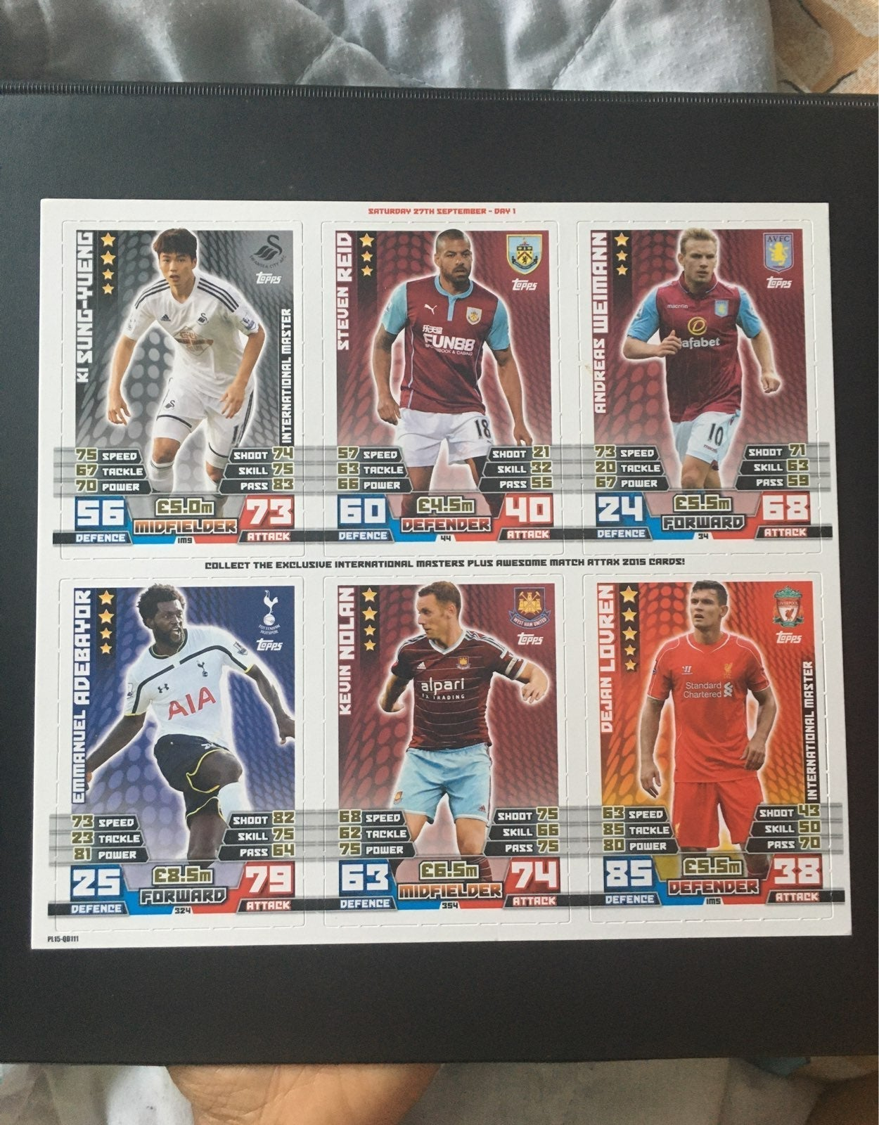 24 Exclusive Intl. Masters Match Attax