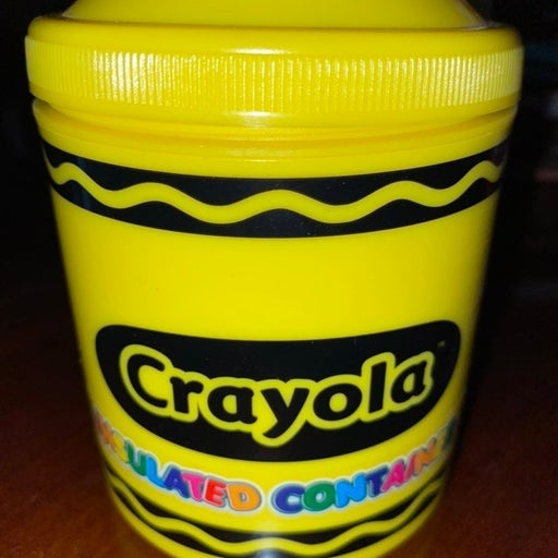 Yellow Crayola insulated container!