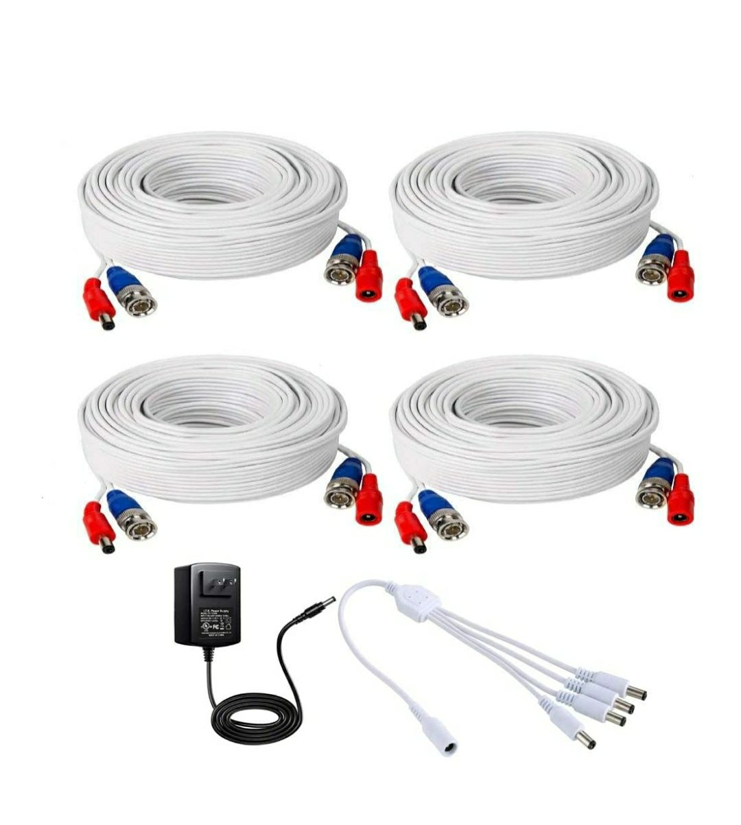 BNC Video Power Cable (4 Pack 60 Feet)