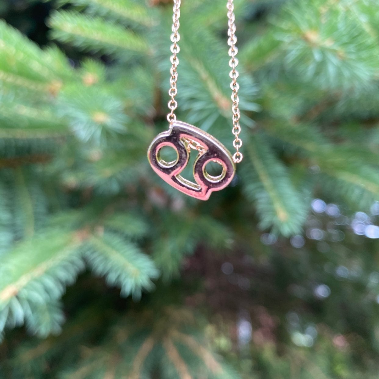 Cancer Necklace - Gold, Astrology,Zodiac