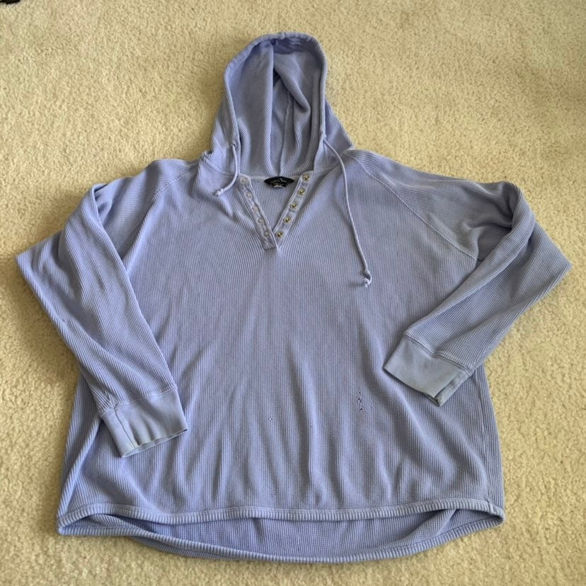 purple long sleeve button hoodie