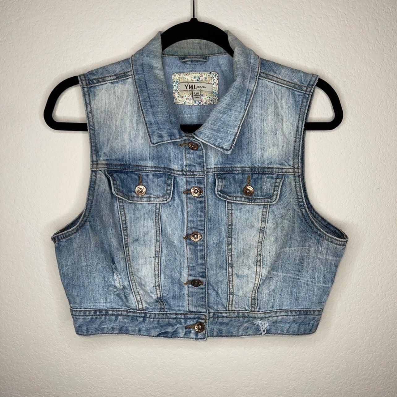 YMI Jeans Light Wash Denim Vest Jacket