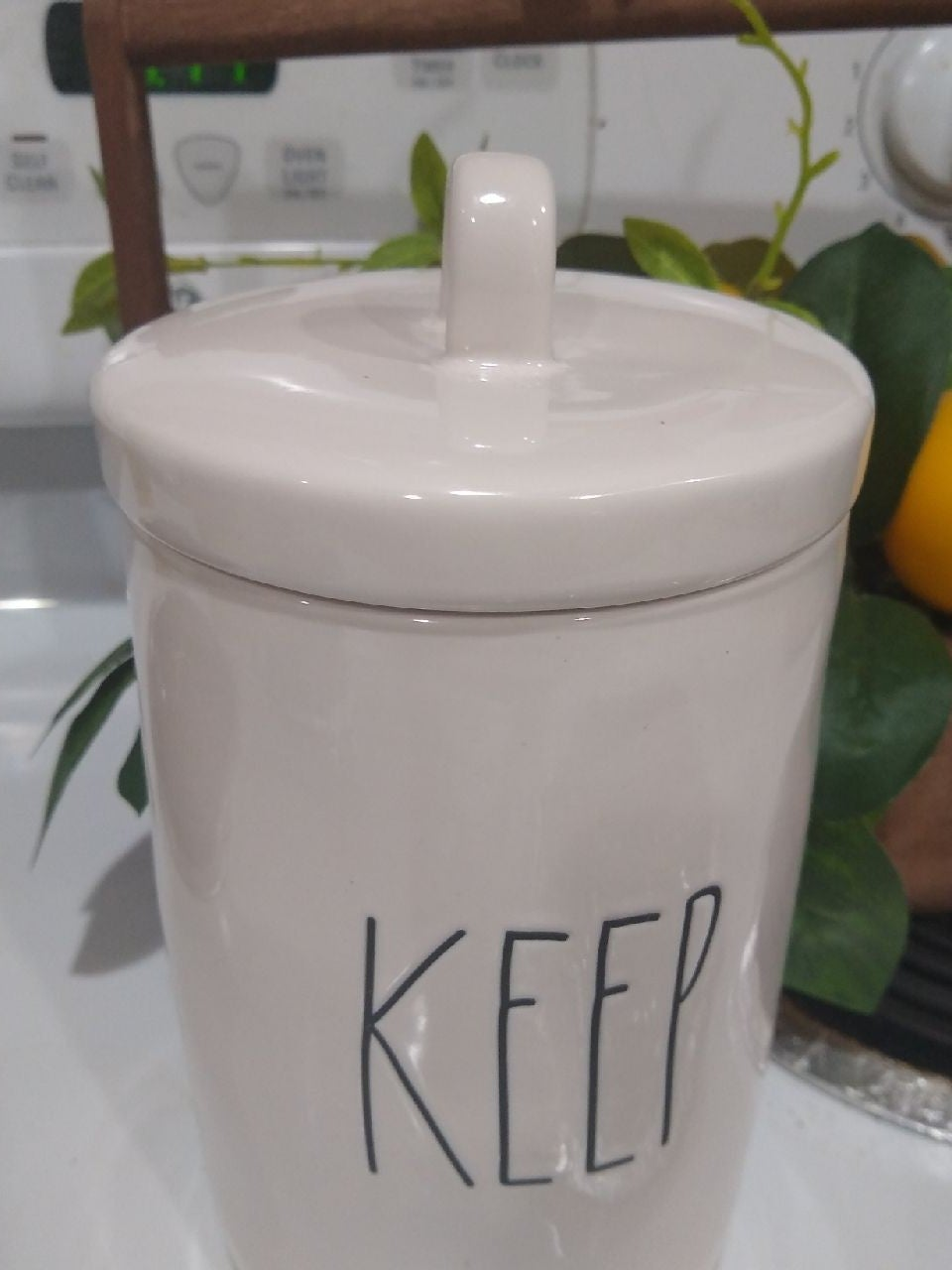 Rae Dunn keep canister container
