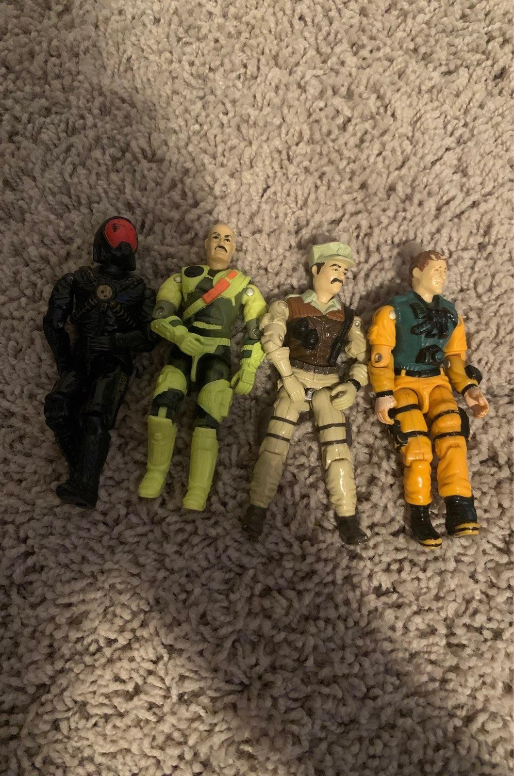GI-joe action figures vintage