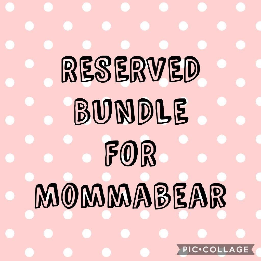 RESERVED VS PINK BUNDLE FOR: Mommabear