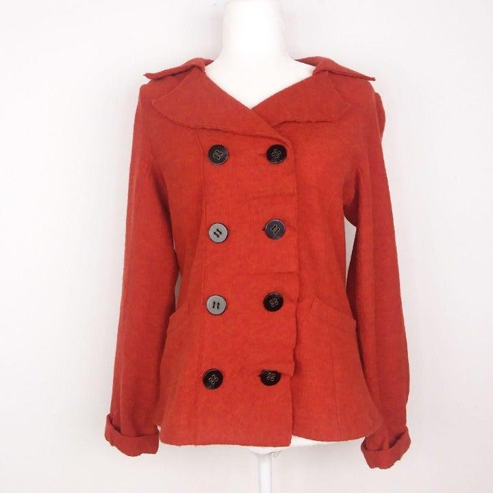 Anthropologie Luii 100% Wool Button Coat
