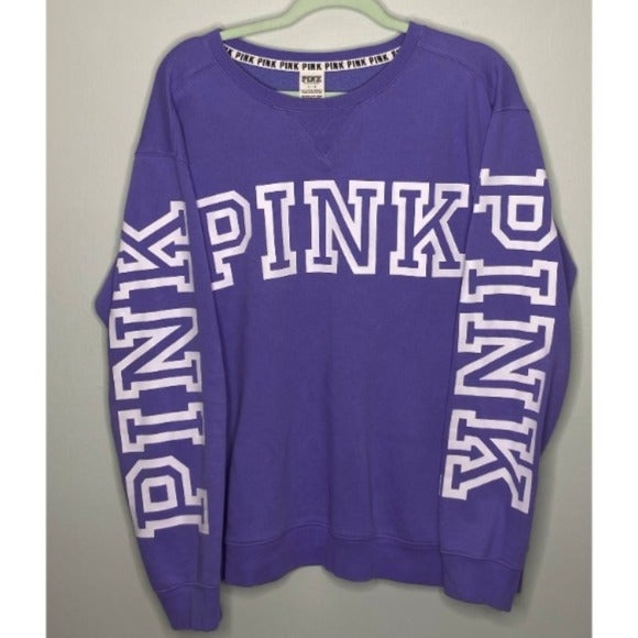 EUC LARGE VS PINK Purple Sweater