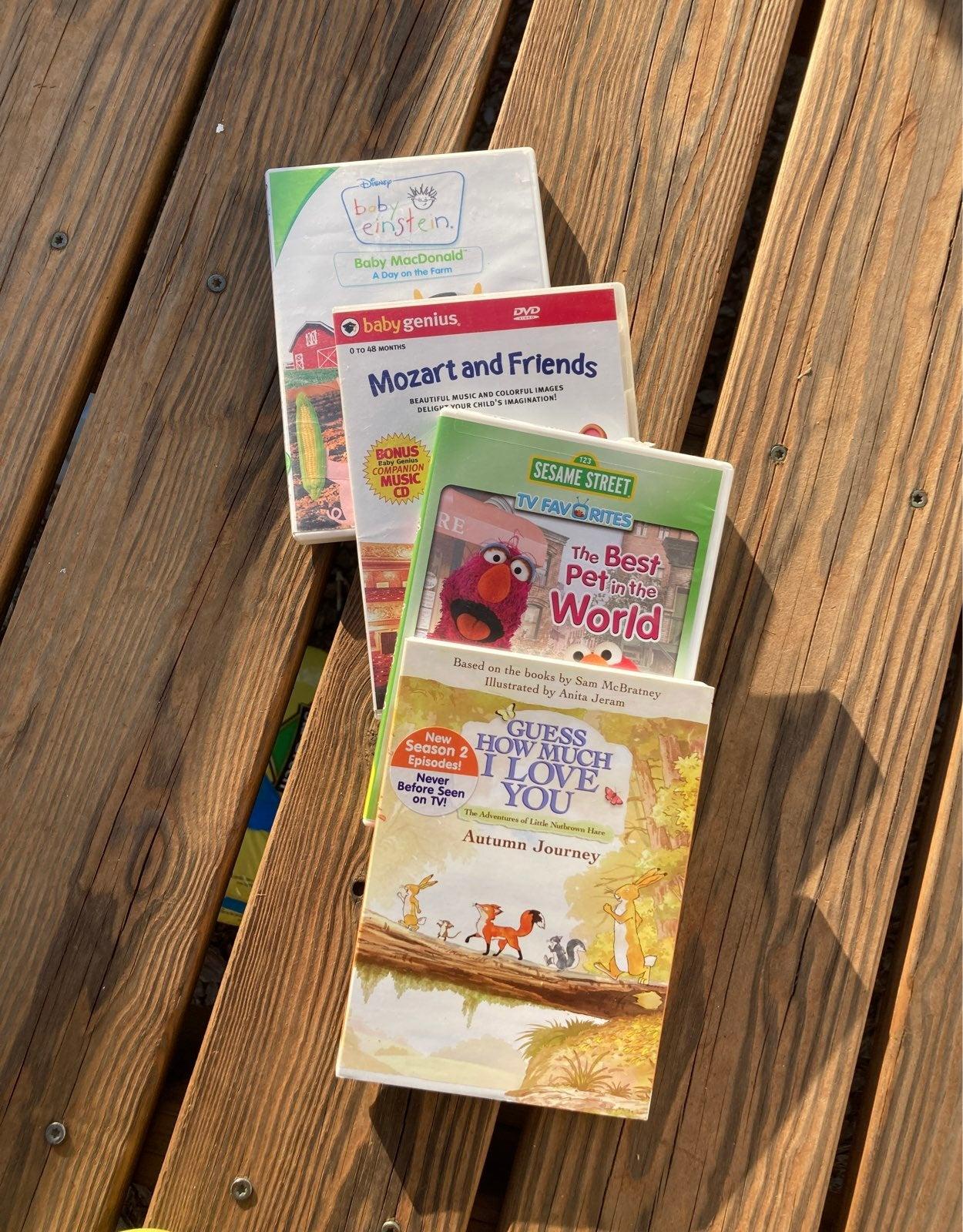 4 toddler dvds