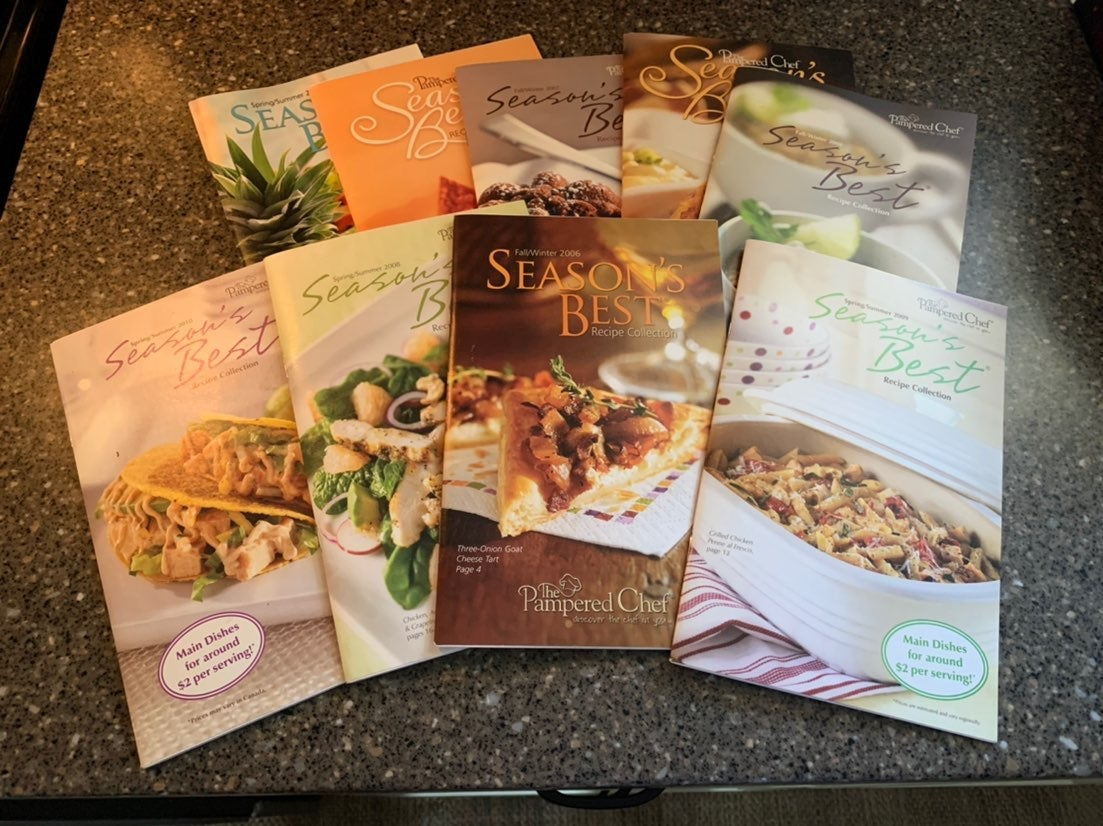 Pampered Chef Season's Best cookbook's