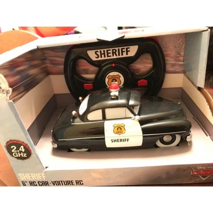 """Disney Pixar Cars Sheriff 6"""" RC Car 2.4g"""
