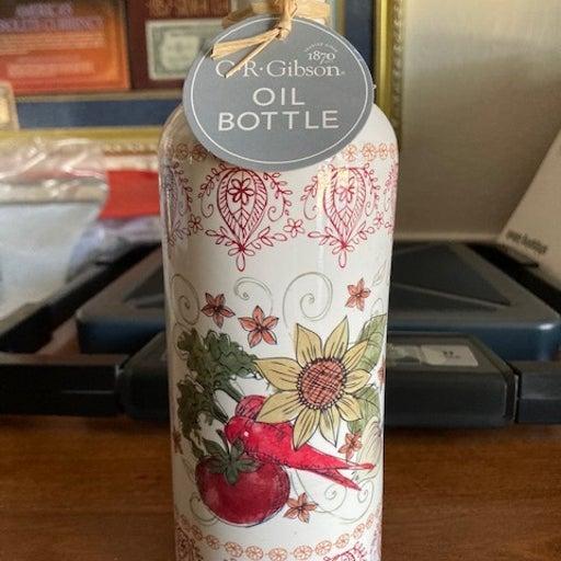CR Gibson Alfresco Porcelain Oil Bottle