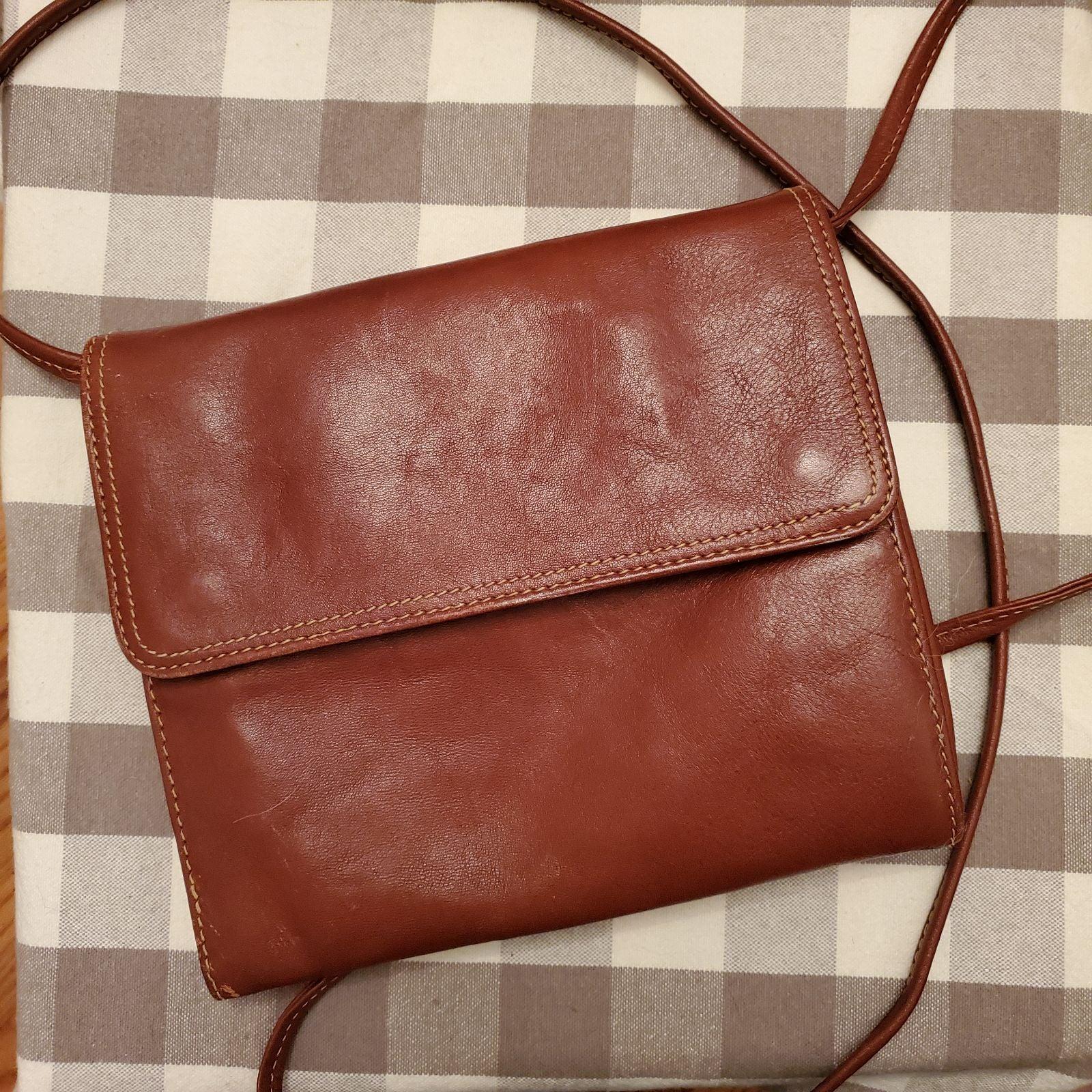 Vintage Italian Leather Crossbody Purse