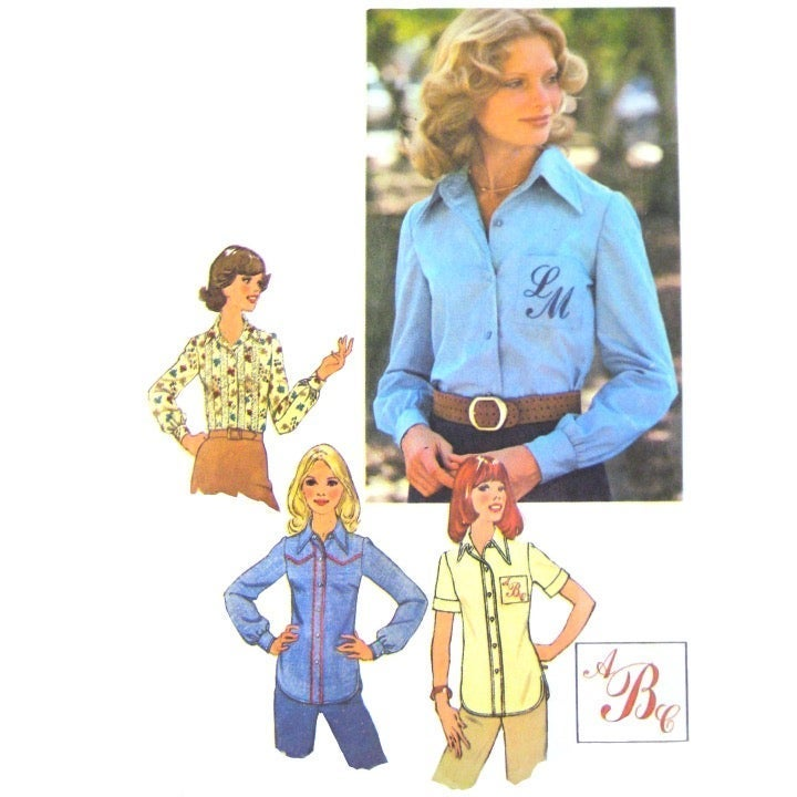 70s Simplicity 7078 Easy Shirt Blouse 10