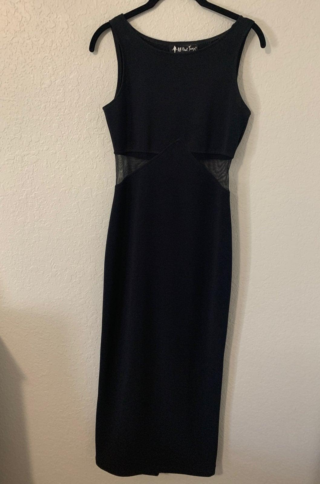 All that Jazz Long Black Dress